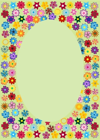 Red Oval Frame Stock Vector - 10423275