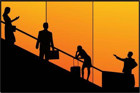 people traveling: Traveling People - Decoration Illustration