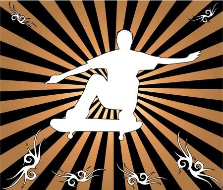 midair: Skateboard silhouette