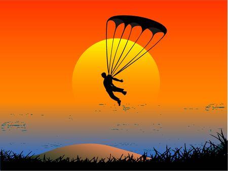 parachutist: Jump Illustration