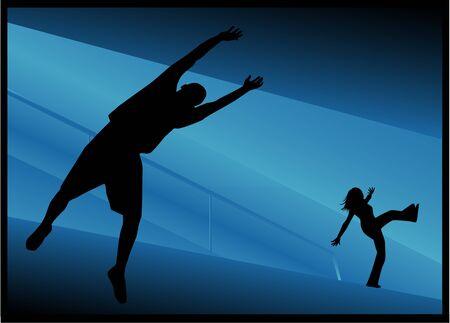 Jump Stock Illustratie
