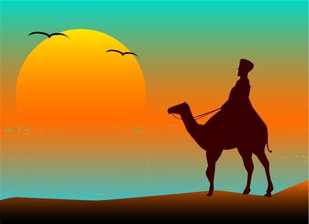 walk through: Walk Through The Desert - Illustration