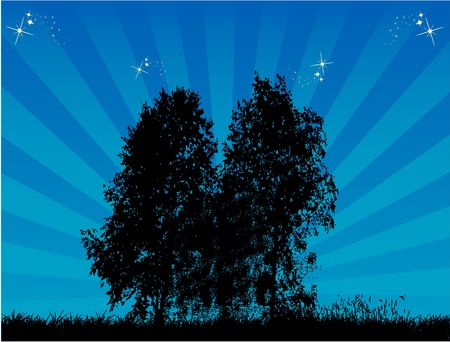 Trees - landscape Stock Vector - 10423278