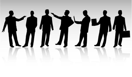 mani che si stringono: Uomo d'affari Vettoriali