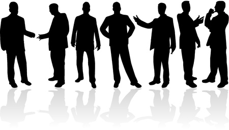 man on cell phone: Empresario,  Vectores