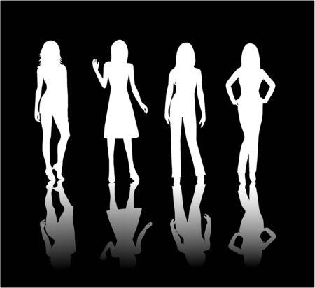 woman shadow: Models