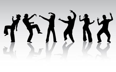 rapero: silueta de personas bailando
