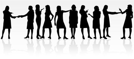 black lady talking: Di�logo de negocios  Vectores