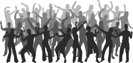 Dancing people Stock fotó - 10423288