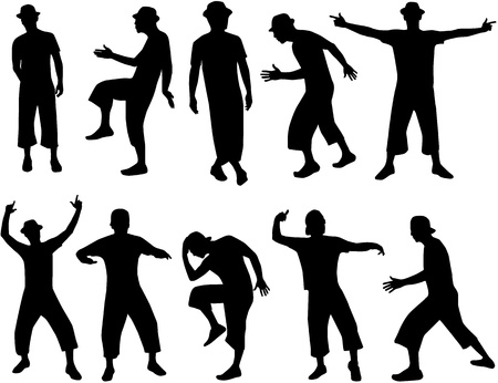 Dancing people  Stock Vector - 10423327