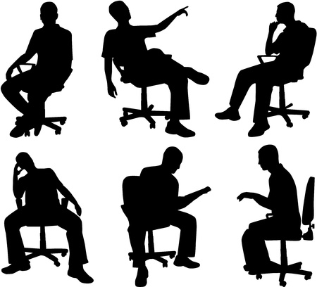 office chair: Man in position sitting