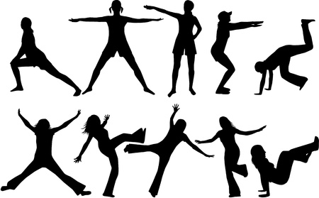 Jumps of people Vector