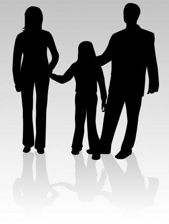 Familien-Schatten Standard-Bild - 10423296