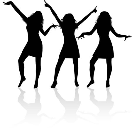 trendy girl: Girls Silhouettes