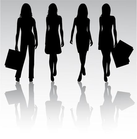 Meisjes Silhouetten