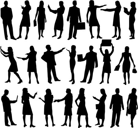 Business-silhouette people  Vector