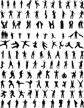 dancer male: Collection of People Illustration