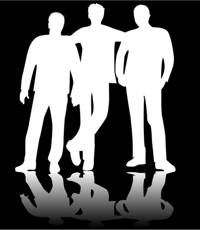 Friends Boys, work Vector