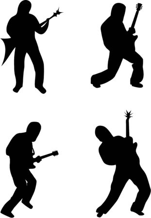 boy playing guitar: Guitar Positions Illustration