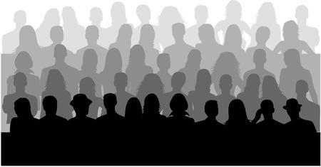 Groep mensen, vectoren te werken Stock Illustratie
