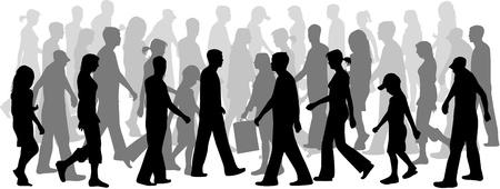 ocupation: Chaos Crowd People Illustration