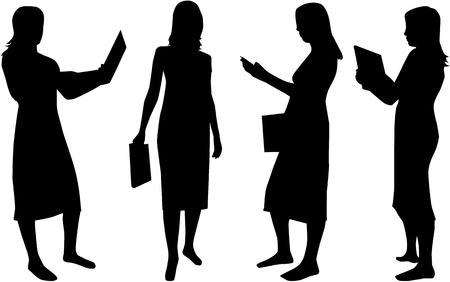 meisje silhouet: Zakelijk Womens