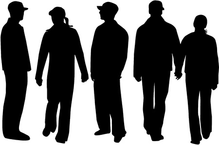 Silhouette People  Stock Vector - 11356359