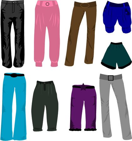 trousers icons vector  Vector