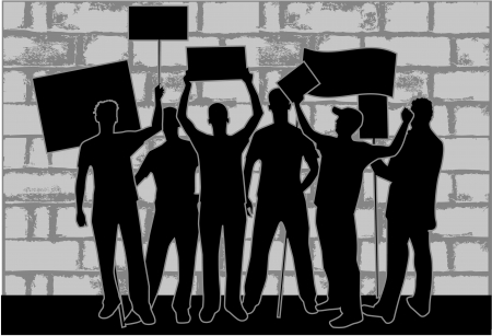 Demonstratie Stad Stockfoto - 13733321