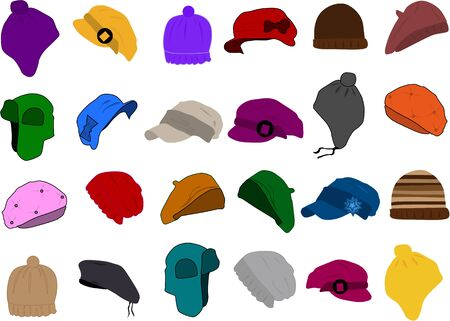 Set of a hat icon  Stock Vector - 13733280