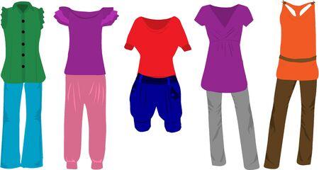 Women's fashion - clothes Stock Vector - 13733275