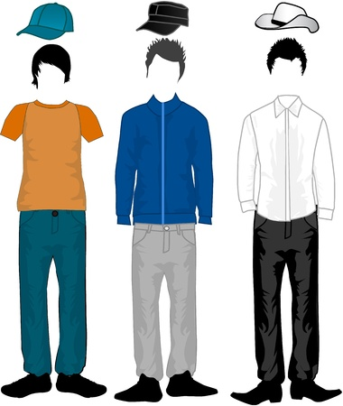 trousers: Men Illustration