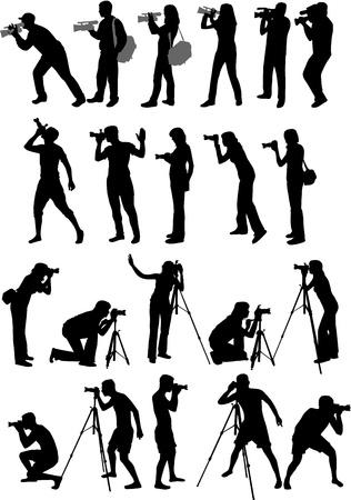 Profielen van fotografen Stockfoto - 13733290