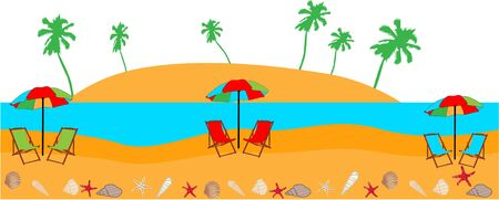 Beach - vector illustration Stock Vector - 13733313