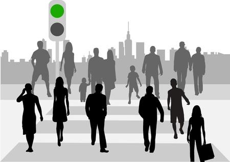 crossover: Pedestrian crossing  Illustration