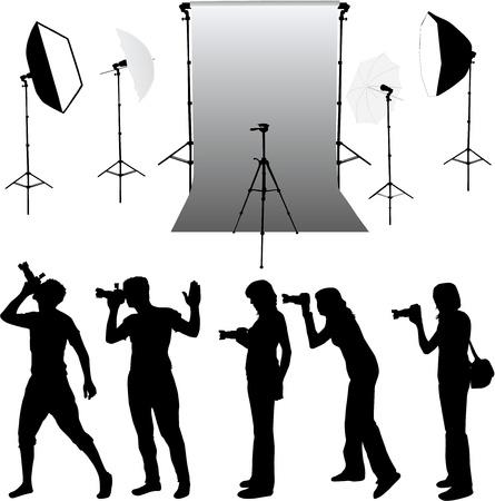 Photo accessories - studio equipment, working with vectors Stok Fotoğraf - 13733279