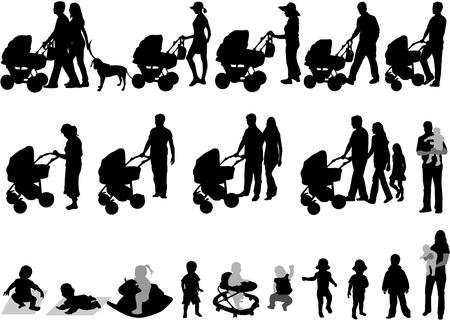 cochecito de bebe: Los padres y los ni�os