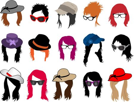 smooth hair: Women Illustration
