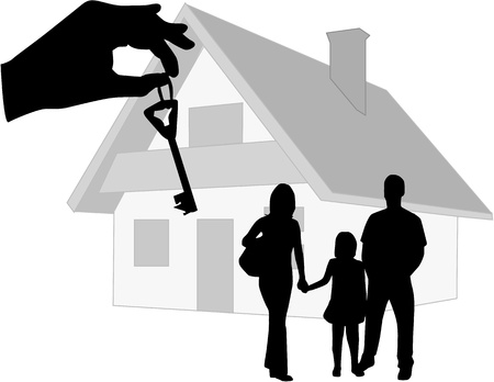 home buyer: key to new home Illustration