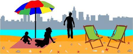 beach holidays Vector