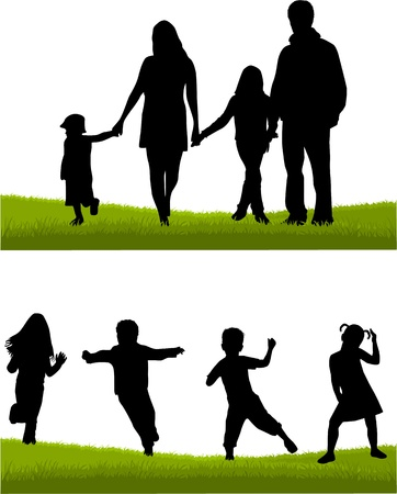Family - parents and children Vector