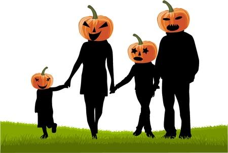 calabaza caricatura: Fiesta de Halloween Vectores