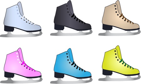 Vector  figure skates Stock Vector - 14481565
