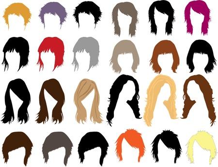 hair dress: Cabello - vestido