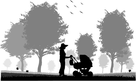family silhouettes Stock Vector - 14481610
