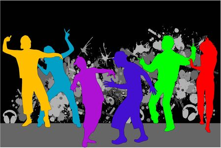 venture: Party - grunge background