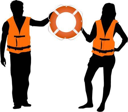 rescuer Vettoriali