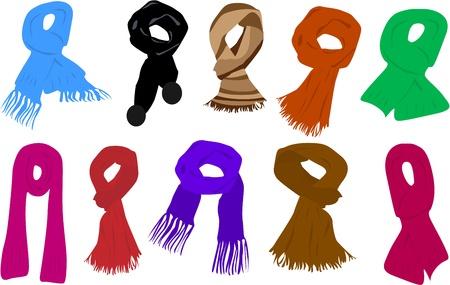 sjaal Vector Illustratie