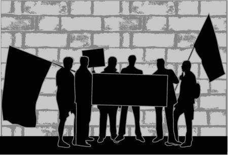 Dimostrazione City - sciopero strada Archivio Fotografico - 14608303