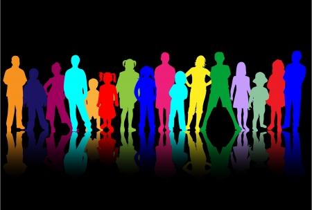 dance shadow: Children